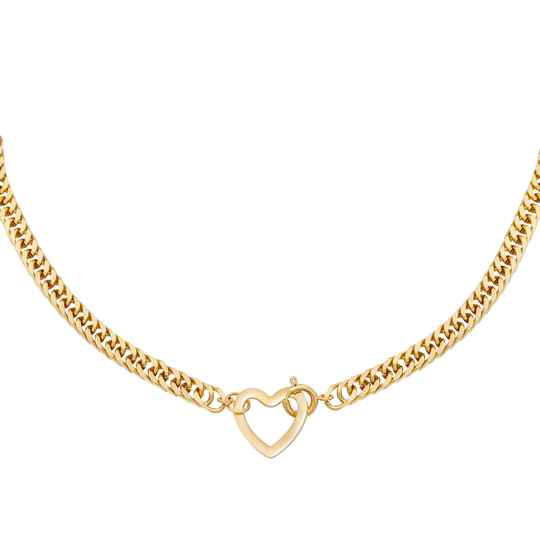Necklace Heart on Lock