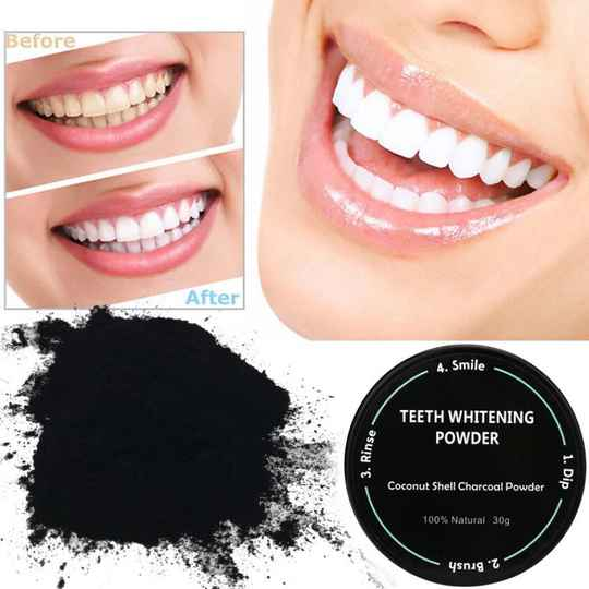 Natural Teeth Whitening - Activated Charcoal 30g..