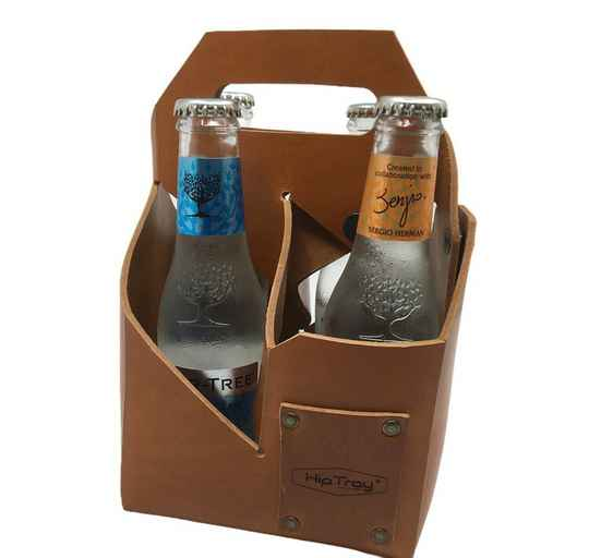 Beverage Tray In Leather