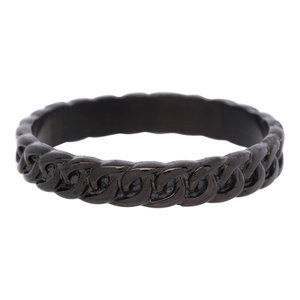 iXXXi 4mm curb chain zwart