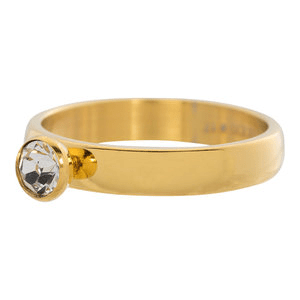 iXXXi 4mm diamant zirkonia crystal goud