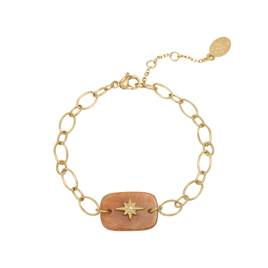 Yehwang armband Nature Star goud/natural