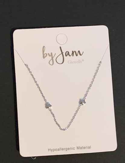 By jam ketting stars all over zilver