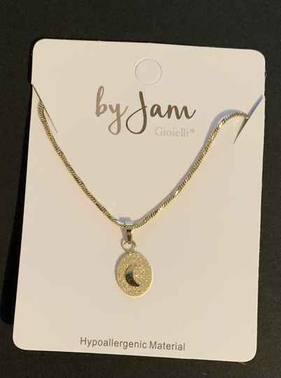 By jam ketting sandblasted moon goud