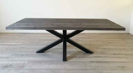 Eettafel Dark Grey matrix / spinpoot metaal