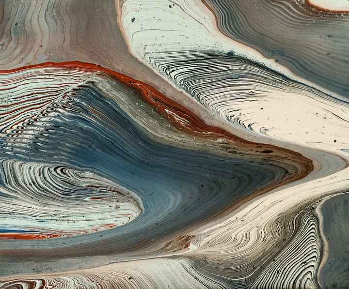 Comic   Els Kampert   Abstract Acrylic Pouring