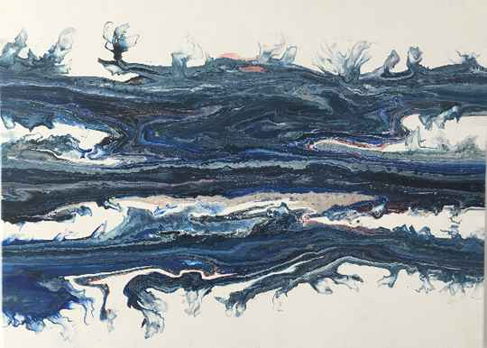 Blue Foothills  | Els Kampert | Abstract Painting