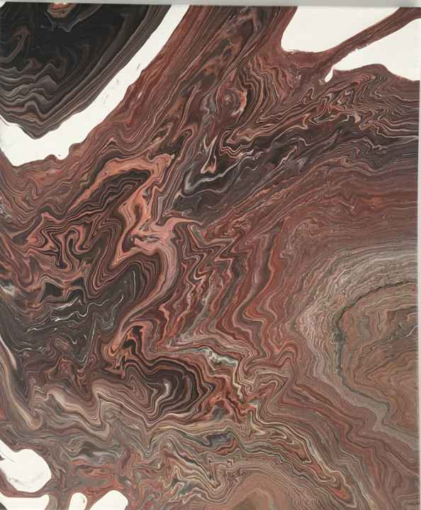 Canyon   Els Kampert   Abstract Acrylic Pouring