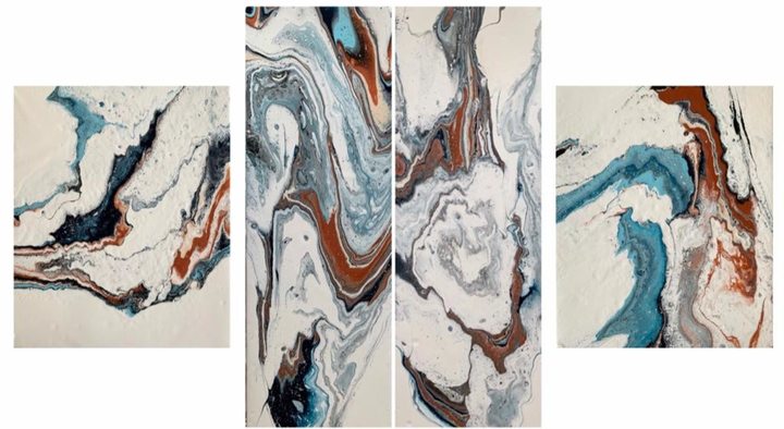 Agate Collection  Els Kampert   Acrylic on Canvas