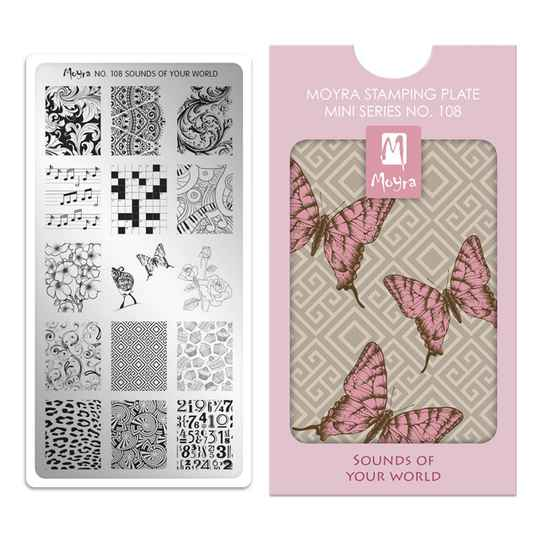 Moyra Mini Stamping Plate 108 Sounds Of Your World