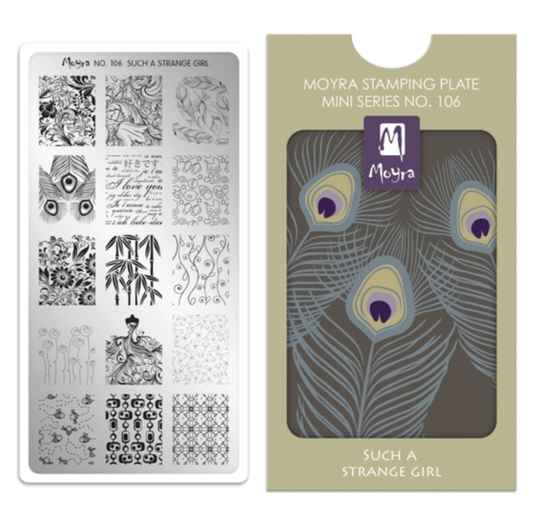 Moyra Mini Stamping Plate 106 Such a strange girl