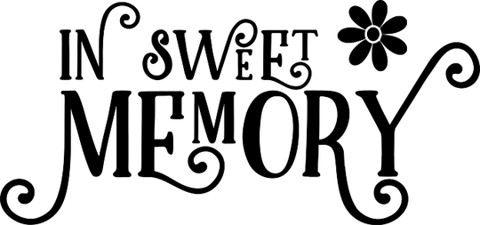 In sweet memory Sticker