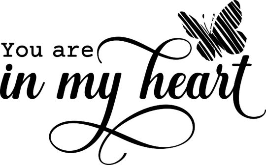 You are in my heart Sticker