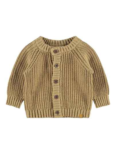 Lil' Atelier Cardigan Imilio Gebreid - Apple Cinnamon