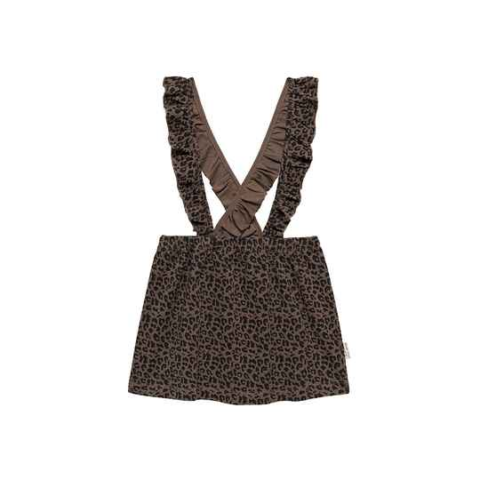 Little Indians Salopette Dress - Leopard