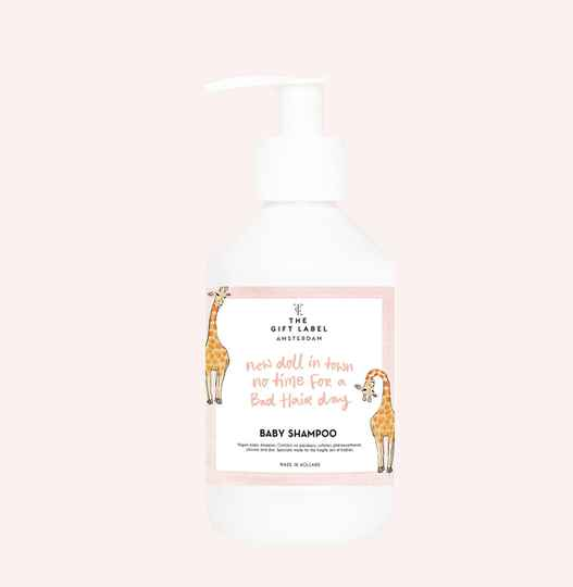 The Gift Label baby shampoo giraf 'new doll in town'