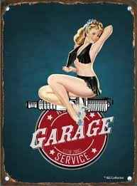 GARAGE SERVICE PIN UP