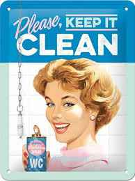 etaal plaat 'keep it clean'