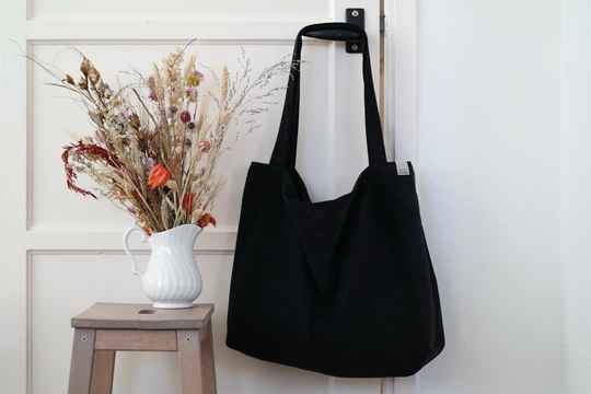 Black baby rib | Mom Bag