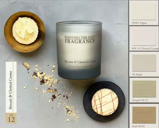 Biscuit & Clotted Cream - Geurkaars - Fragrance Painting The Past
