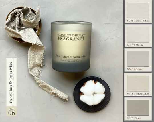 French Linen & Cotton White - Geurkaars - Fragrance Painting The Past