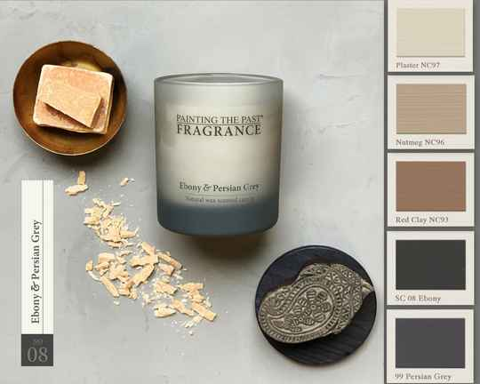 Ebony & Persian grey  - Geurkaars - Fragrance Painting The Past