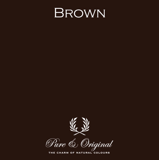 Brown - Afwasbare verf - Licetto
