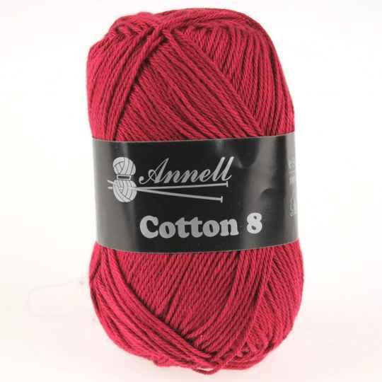 Annell Coton 8 kleur 10 donkerrood