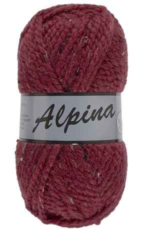 Lammy Alpina 440 donkerrood met tweed-effekt