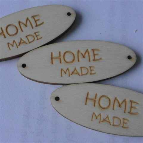 Label hout HOMEMADE