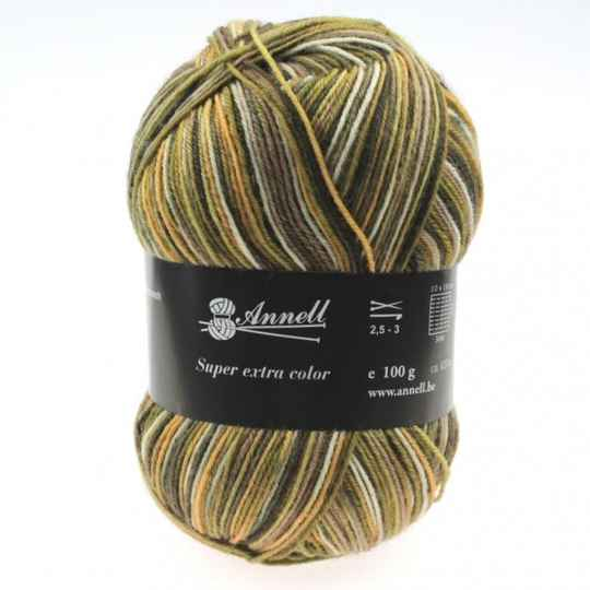 Annell Super Extra Color 2914 beige/groenig