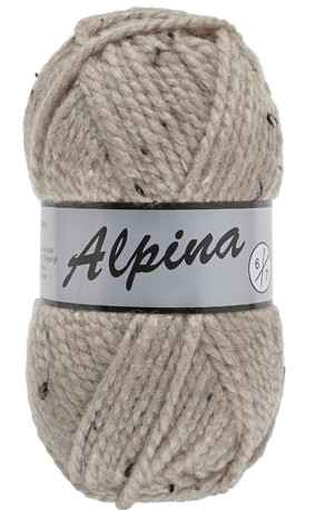 Lammy Alpina 410 taupe met tweed-effekt