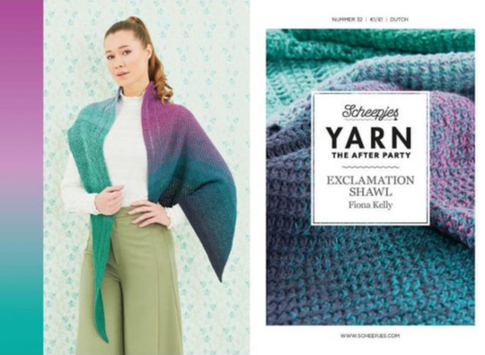 After the party - Exclamation shawl