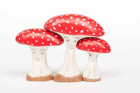 AdP Toadstool Set - Red