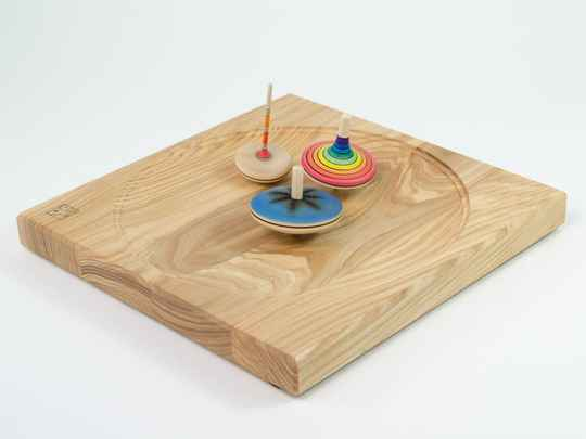 Mader - Large Spinning top plate Maple