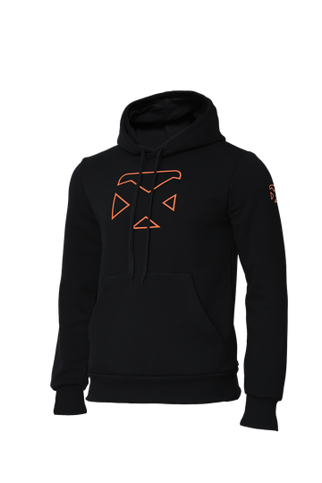 Pacific Hoodie - Black - Orange