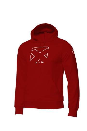 Pacific Hoodie - Red - White C468