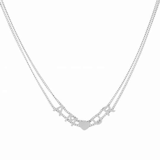 Amour ketting - zilver