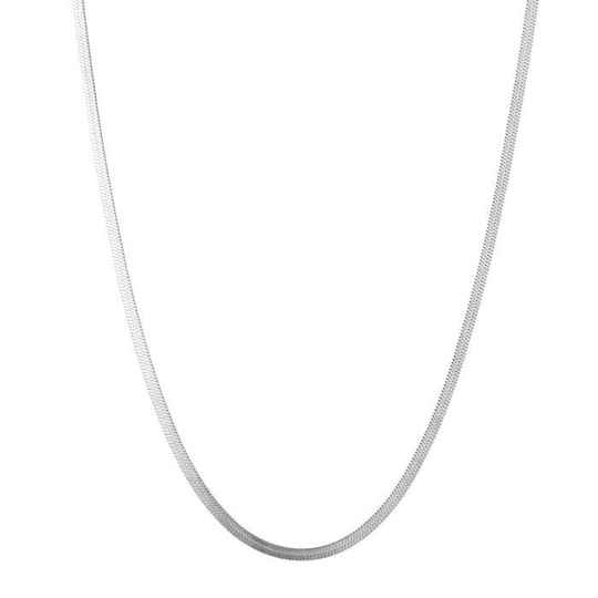 Ketting flat chain - zilver