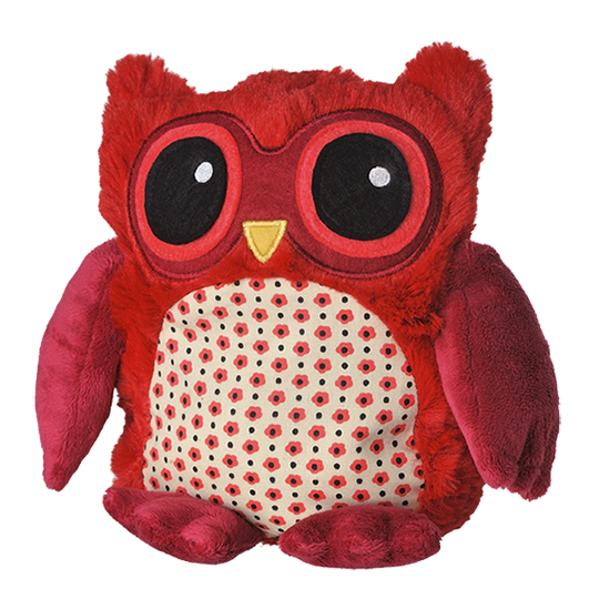 Magnetronknuffel Warmies® POP! Uil rood