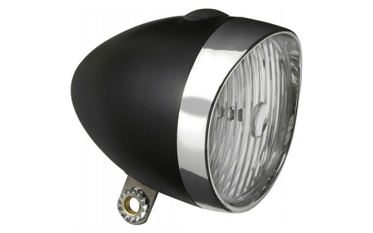 Koplamp Edge Retro 3 Leds incl. batterijen - zwart/chroom