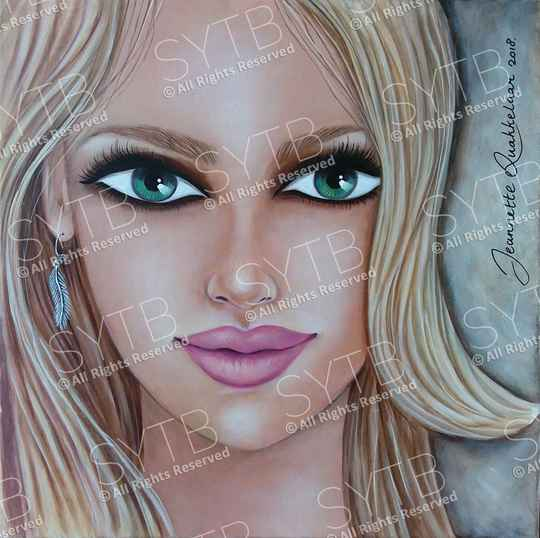 SYTB☆Feather Beauty 2018 (Original Painting)