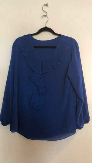 KOBALTBLAUWE BLOUSE  MADE IN ITALY  SIZE L
