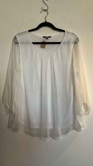 WITTE BLOUSE  COMMA SIZE 46