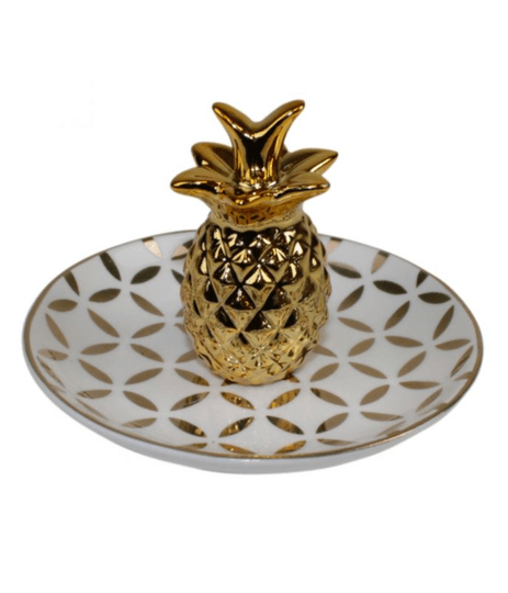PLATE PINEAPPLE GOLD