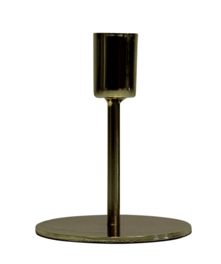 ROUND CANDLE COLDER - GOLD