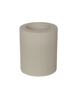 CANDLE HOLDER BEIGE