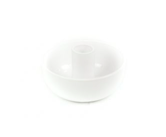 CANDLE BOWL S WHITE