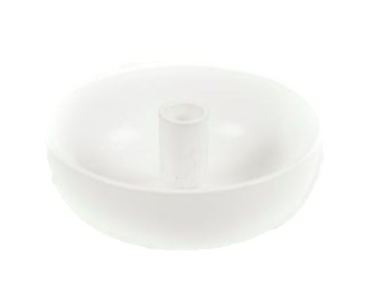 CANDLE BOWL M WHITE