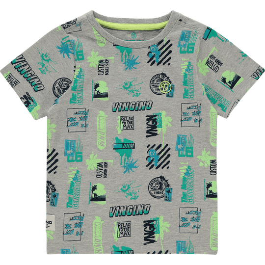 T-SHIRT HOZAN LIGHT GREY MELEE